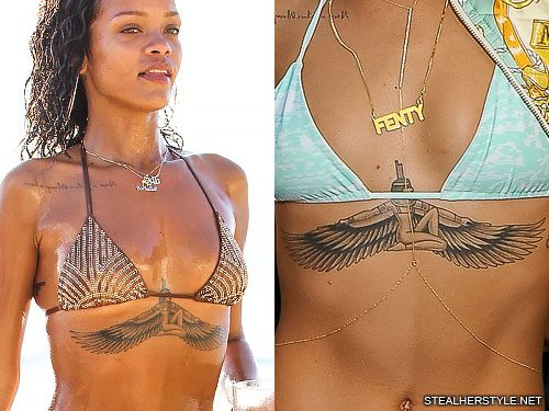 Rihanna's Tattoos & Meanings | Steal Her Style
