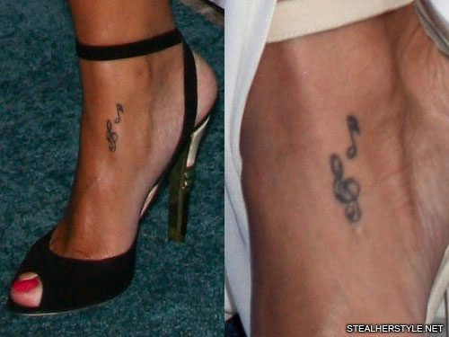 rihanna-music-notes-ankle-tattoo