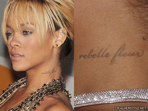 d5670a3641ff3 Rihanna's Tattoos & Meanings | Steal Her Style