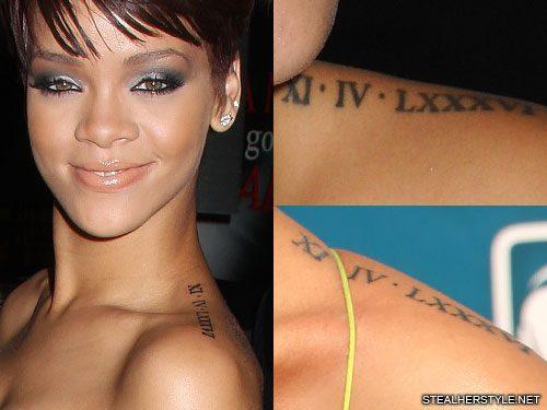 rihanna-roman-numeral-shoulder-tattoo