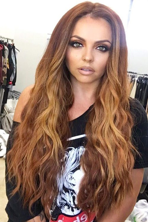 Jesy Nelson Wavy Medium Brown Ombr 233 Hairstyle Steal Her