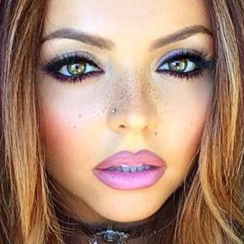 Jesy Nelson Makeup Black Eyeshadow Gray Eyeshadow