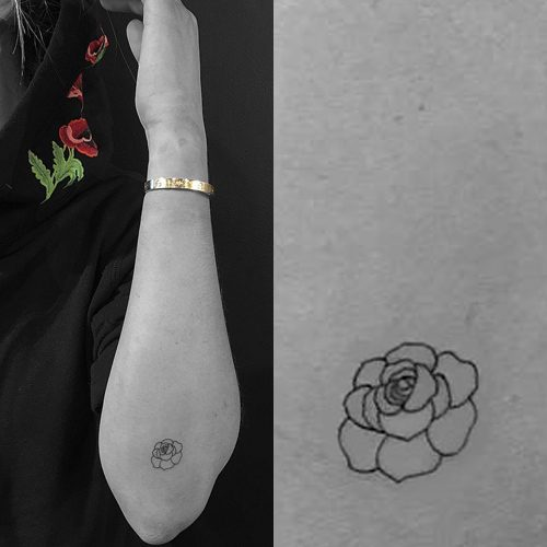 Lauren Elizabeth Flower Elbow Tattoo   Steal Her Style