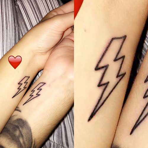lottie tomlinson lightning bolt wrist tattoo steal her style