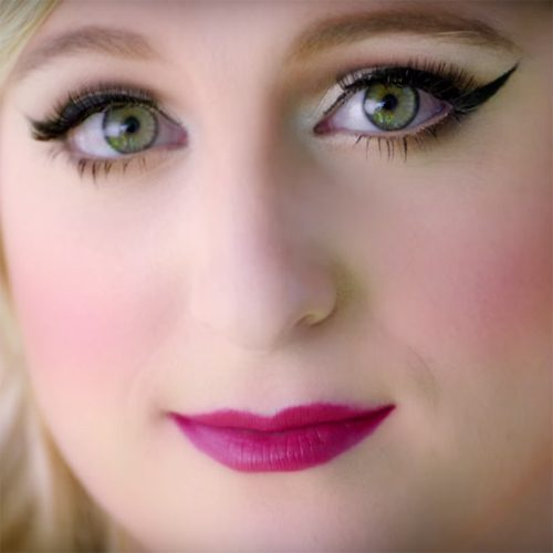 Meghan trainors makeup photos products steal her style youtube meghantrainorvevo publicscrutiny