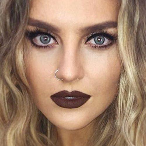 Perrie Edwards Makeup: Black Eyeshadow, Brown Eyeshadow ...