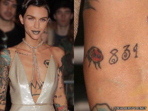 Ruby Rose S 48 Tattoos Meanings Steal Her Style Page 2