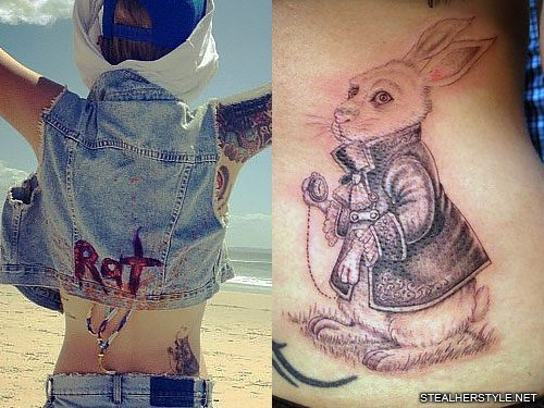 10b497889 11 Celebrity Rabbit Tattoos   Steal Her Style