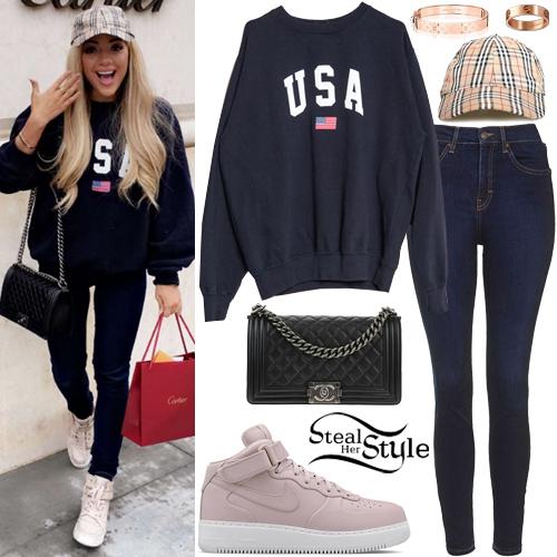 Gabriella Demartino Usa Sweatshirt Dark Blue Jeans
