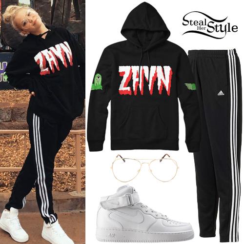 Jordyn Jones Zayn Hoodie Adidas Pants Steal Her Style