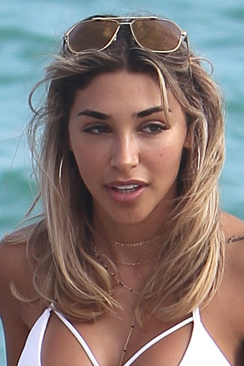 chantel jeffries straight medium brown allover highlights