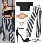 Jordyn Jones: Striped Wide Leg Pants