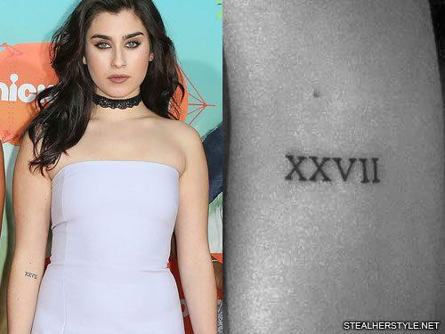 Lauren Jauregui Roman Numeral Elbow Tattoo | Steal Her Style