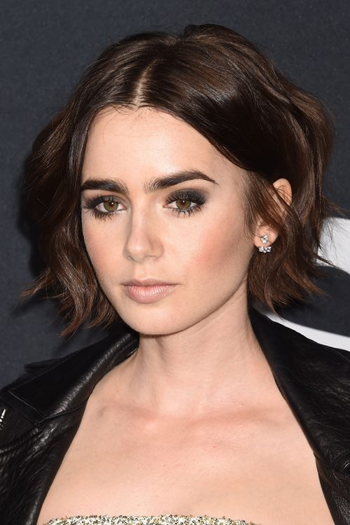lily collins hairstyles amp hair colors steal her style