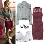 Lizzy Greene: Denim Jacket, Lace Dress