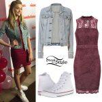 Lizzy Greene: Denim Jacket, Lace Dress