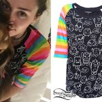 Miley Cyrus: Rainbow Stripe Raglan