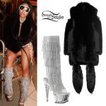Nicki Minaj: Rhinestone Fringe Boots