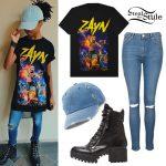 Skai Jackson: Zayn Tee, Combat Boots