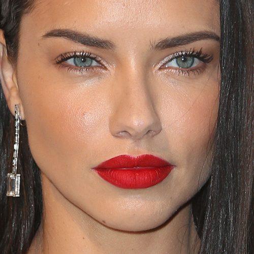 Adriana Lima Makeup Red Lips Mugeek Vidalondon