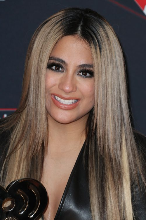 ally brooke straight light brown allover highlights