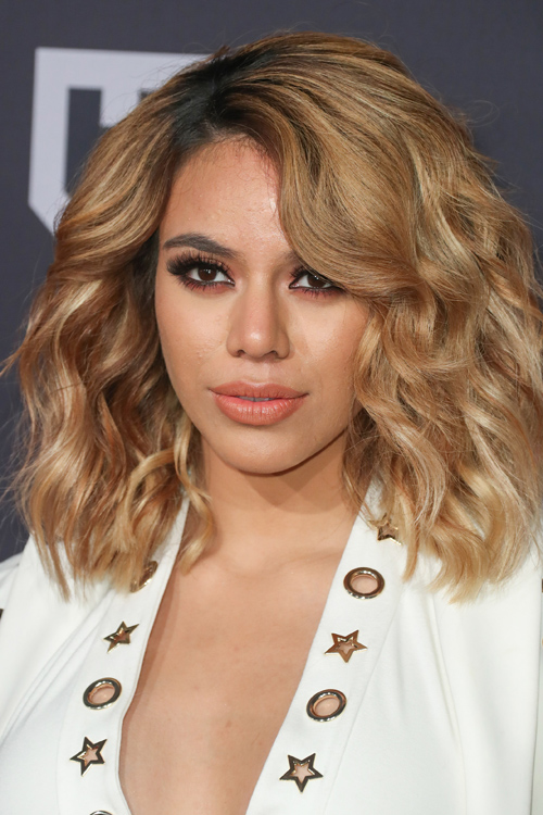 Dinah Jane Hansen Wavy Medium Brown All Over Highlights