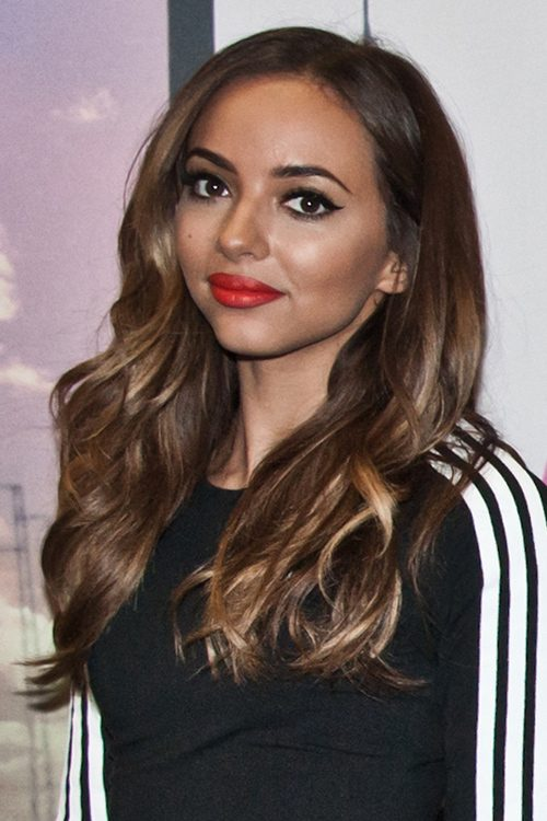 Jade Thirlwall Wavy Medium Brown Peek A Boo Highlights