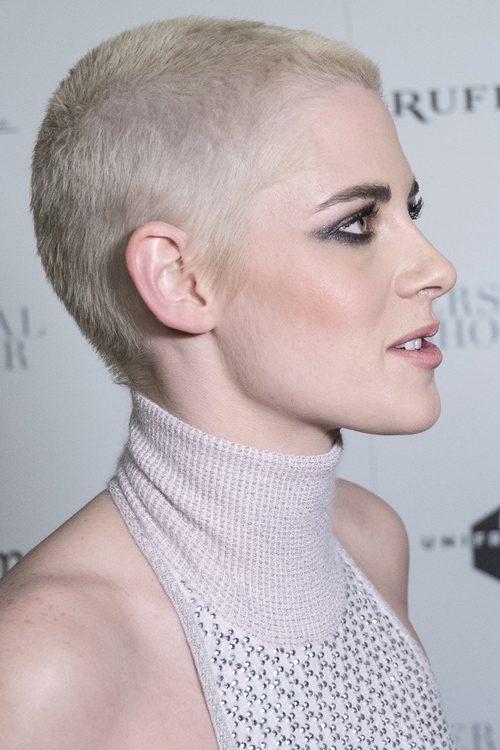 Kristen Stewart Straight Platinum Blonde Buzz Cut ...