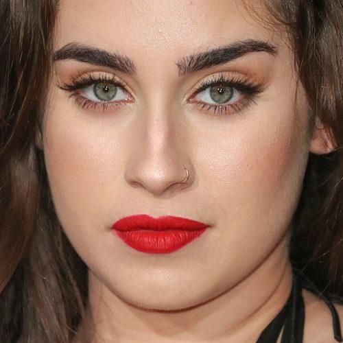 Lauren Jauregui Makeup: Black Eyeshadow, Brown Eyeshadow, Nude Eyeshadow & Red Lipstick | Steal ...
