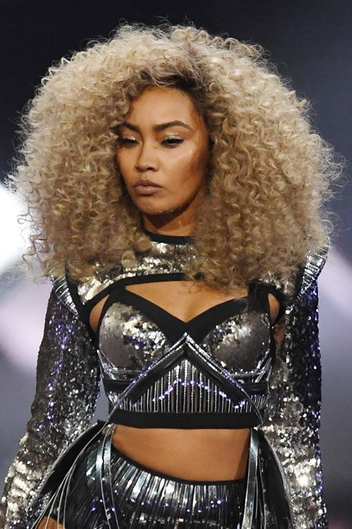 Leigh Anne Pinnock Curly Light Brown Afro Bouffant Hairstyle Steal Her Style