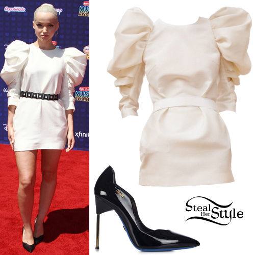 Dove Cameron dazzles the red carpet wih the 80s glam look