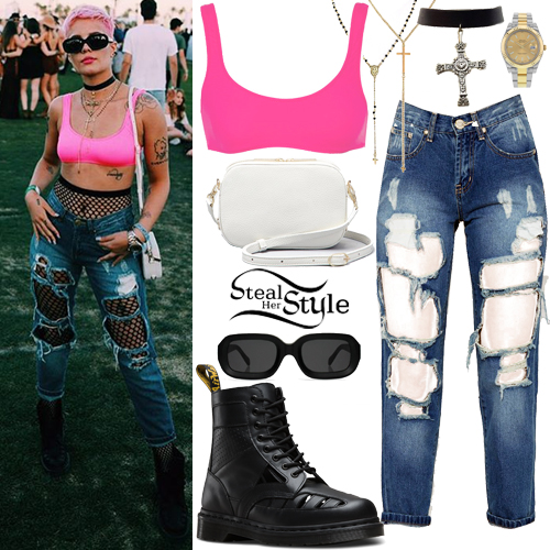 Halsey 2017 Coachella Day 1 Outfit Steal Her Style