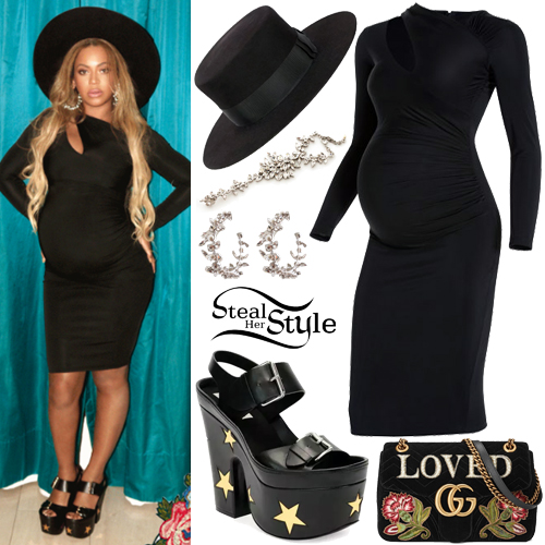 Little Black Cocktail Dress with Platform