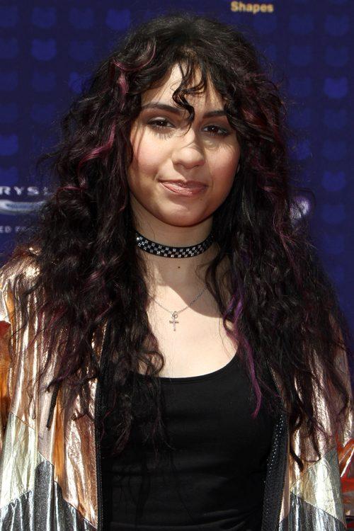 Alessia Cara Curly Dark Brown Choppy Bangs Peek A Boo