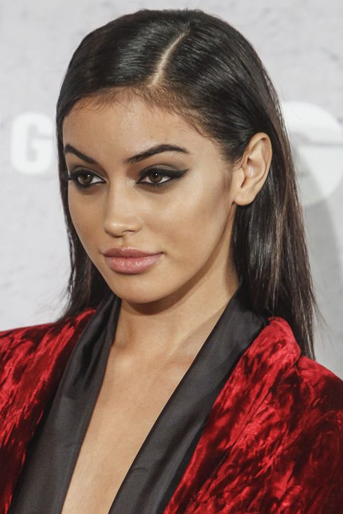 Cindy Kimberly Straight Dark Brown Hairstyle Steal Her Style