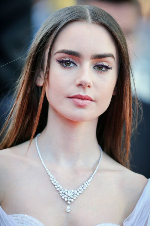 Lily Collins Hairstyles & Hair Colors
