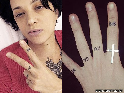 155 celebrity knuckle tattoos steal her style for Tattoo photos 2017
