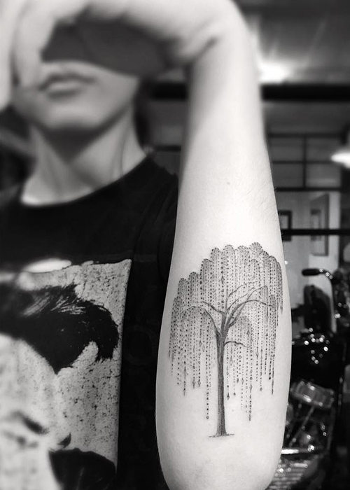 Frances Bean Cobain Tree Forearm Tattoo Steal Her Style