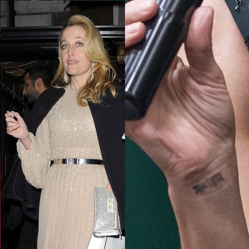 Gillian Anderson S 3 Tattoos Amp Meanings Steal Her Style