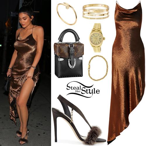 Kylie Jenner Brown Dress | Weddings Dresses