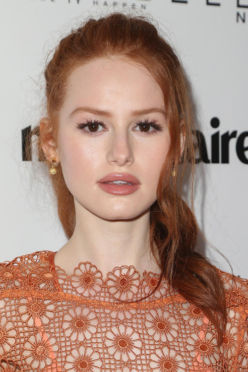 Madelaine Petsch Wavy Ginger Face Framing Pieces High