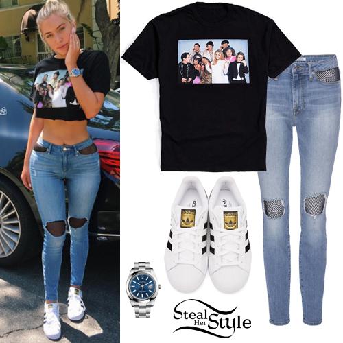 Anastasia Karanikolaou Clueless Tee Mesh Panel Jeans