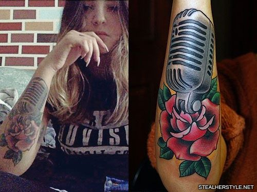 7 Celebrity Microphone Tattoos Steal Her Style