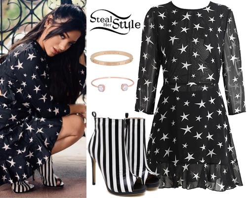 Niki and gabi wheel of fashion black and white dresses