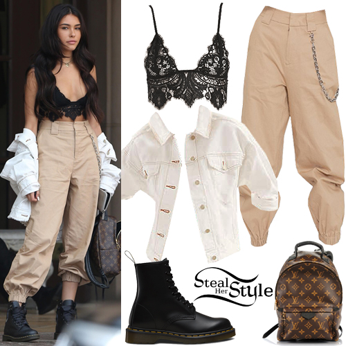 Madison Beer Black Lace Bralette Cargo Pants Steal Her