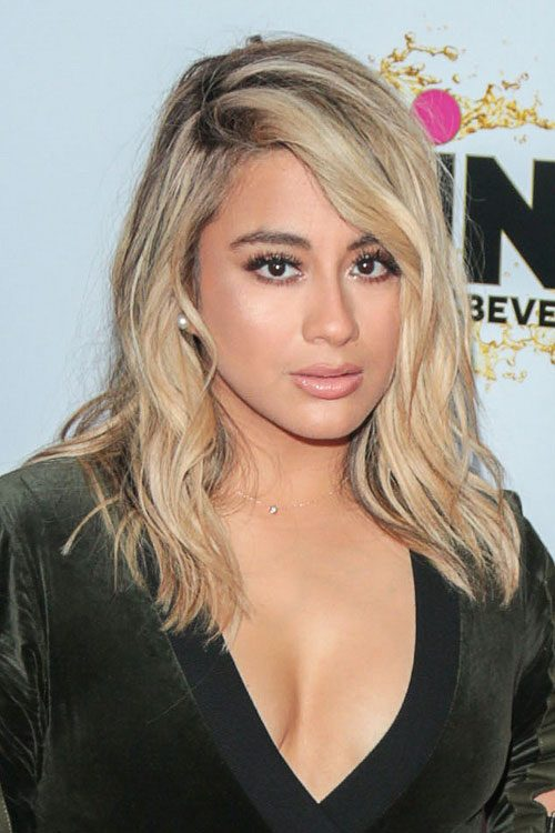 Ally Brooke Wavy Light Brown All Over Highlights Dark