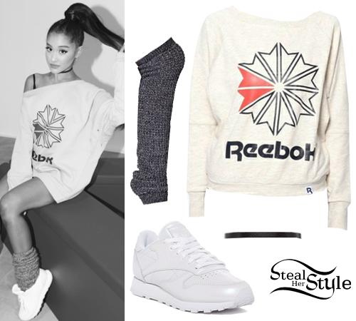 SweatshirtWhite GrandeReebok Ariana SneakersSteal Her Style 5L4cA3RjqS