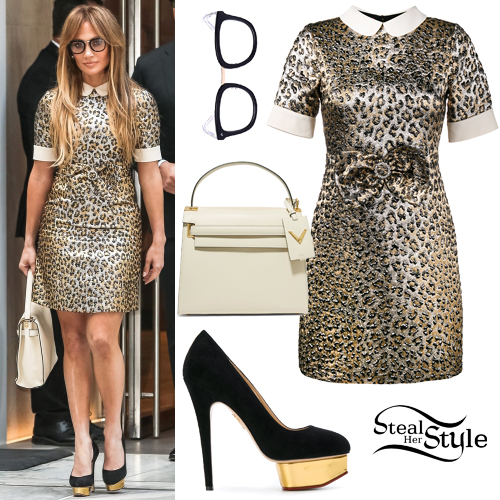 a4e56ebab0e7b Jennifer Lopez  Leopard Dress