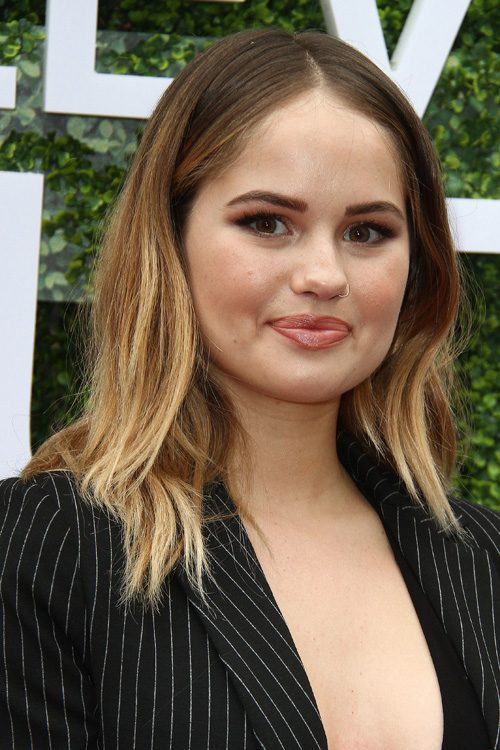 Debby Ryan Wavy Medium Brown Ombr 233 Two Tone Hairstyle