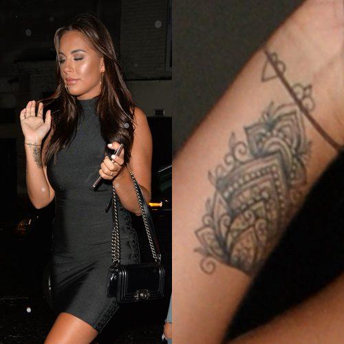 Ornamental Bracelet Tattoo On The Left Wrist Tattoo: Jessica Shears Heart, Symbol Wrist Tattoo